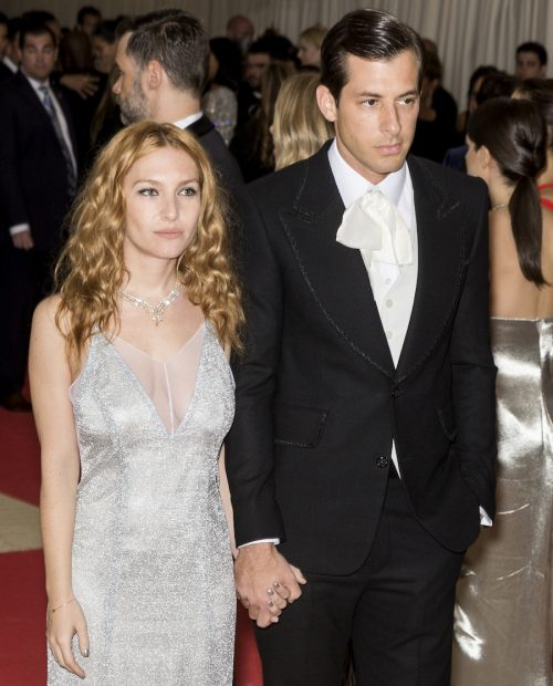 Joséphine de La Baume and Mark Ronson at the Met Gala in May 2016