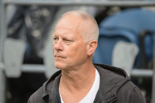Kenny Mayne on the sidelines of a Los Angeles Rams and Seattle Seahawks game in Seattle in October 2019
