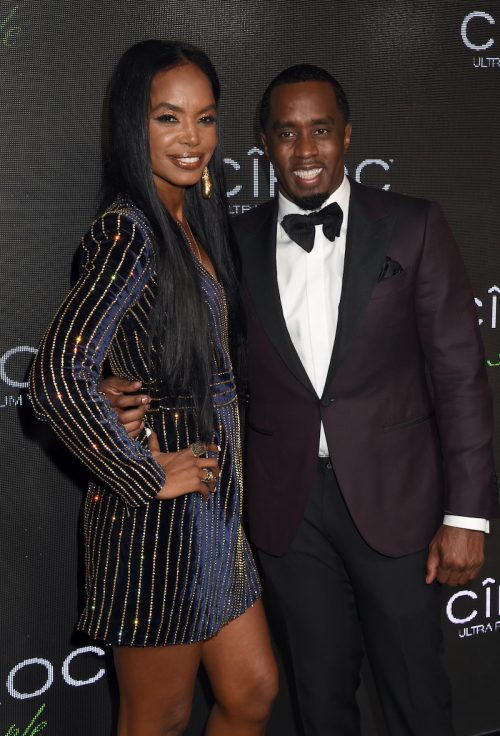 Kim Porter and Diddy at Sean's