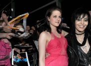 """Kristen Stewart and Joan Jett at the premiere of """"The Runaways"""" in 2010"""