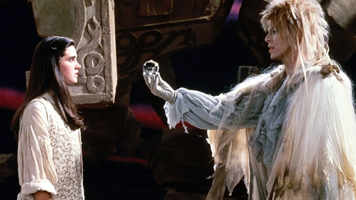 Jennifer Connelly and David Bowie in Labyrinth