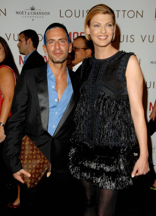 Marc Jacobs and Linda Evangelista at the Louis Vuitton Gala Celebrating Murakami Exhibition in October 2007