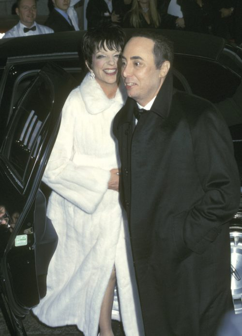 Liza Minnelli and David Gest on their wedding day in March 2002