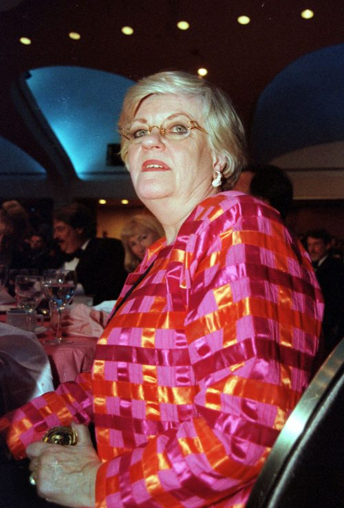 Lucianne Goldberg at the White House Correspondents Dinner in April 1998