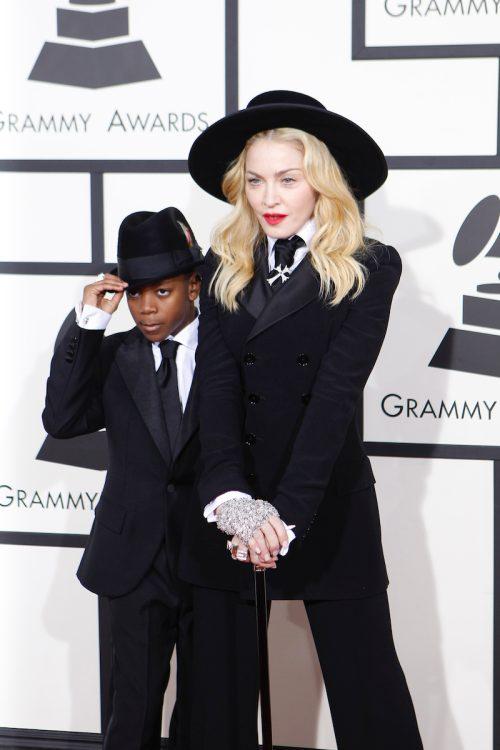 David Banda and Madonna at the 2014 Grammys