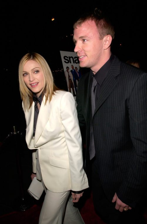 """Madonna and Guy Ritchie at the premiere of """"Snatch"""" in January 2001"""