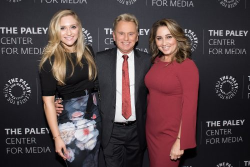 Maggie Sajak, Pat Sajak, and Lesly Brown at The Paley Center for Media Presents: Wheel of Fortune: 35 Years as America's Game in November 2017