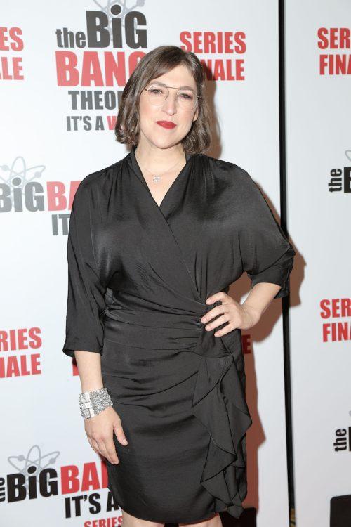 """Mayim Bialik at the """"Big Bang Theory"""" series finale party in May 2019"""