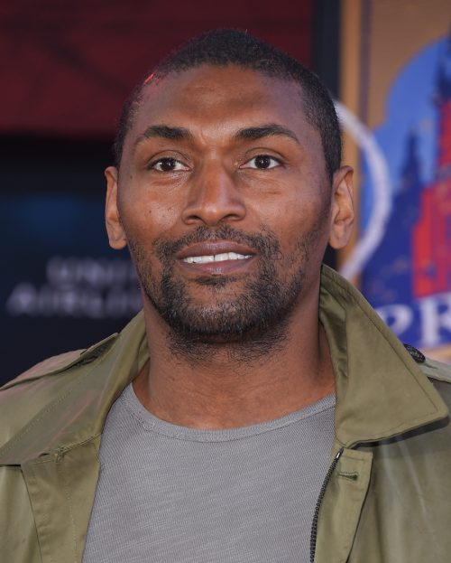 """Metta Sandiford-Artest at the premiere of """"Spider-Man: Far From Home"""" in June 2019"""