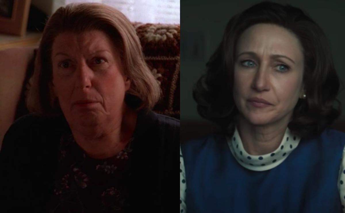 Nancy Marchand in The Sopranos and Vera Farmiga in The Many Saints of Newark