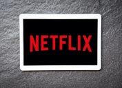 Netflix logo on tablet