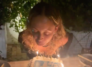 Nicole Richie blowing out the candles on her birthday cake on September 21, 2021