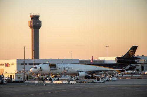 Oakland International Airport at sunset