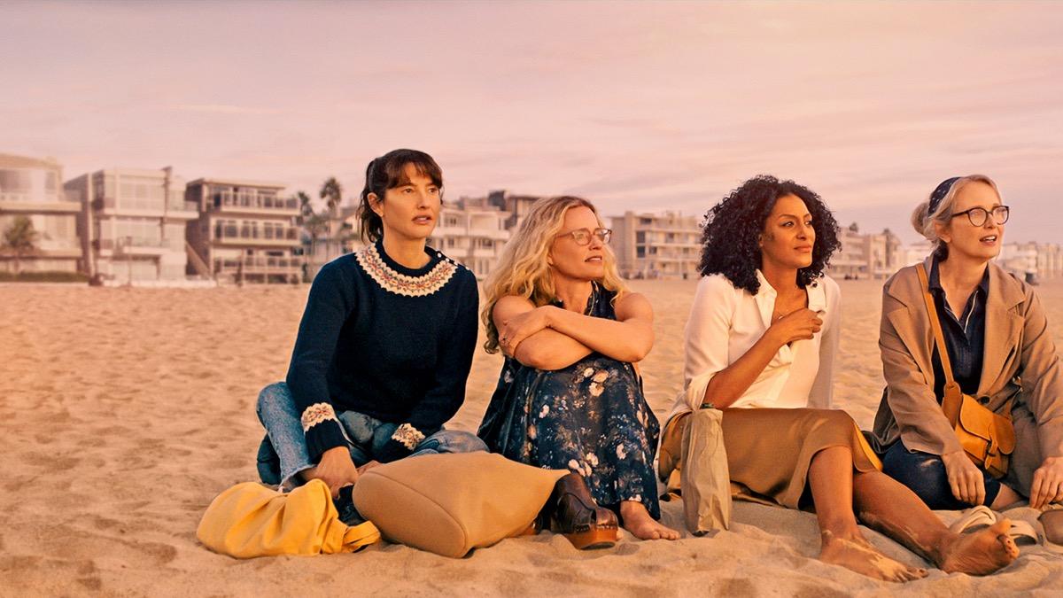 Alexia Landeau, Elisabeth Shue, Sarah Jones, and Julie Delpy in On the Verge