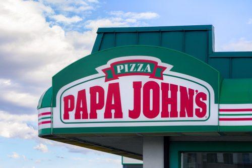 the exterior of a Papa John's restaurant