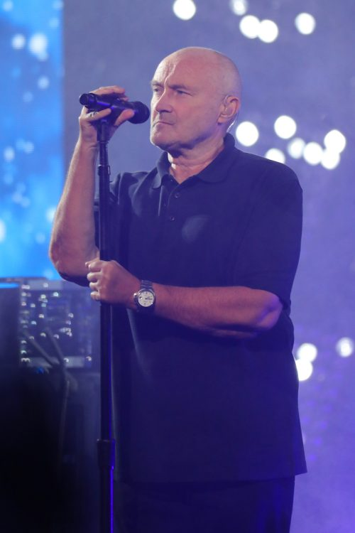 Phil Collins performing at the US Open in August 2016