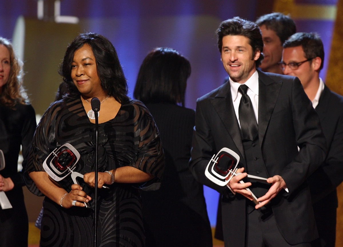 Shonda Rhimes and Patrick Dempsey in 2006
