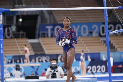 Simone Biles at the Tokyo Olympics on July 26, 2021