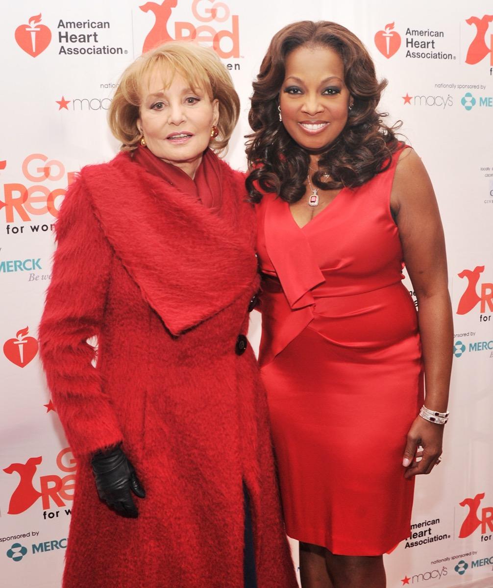 Barbara Walters and Star Jones