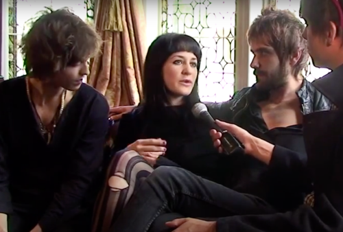 Belakiss being interviewed by Music Feeds in 2010