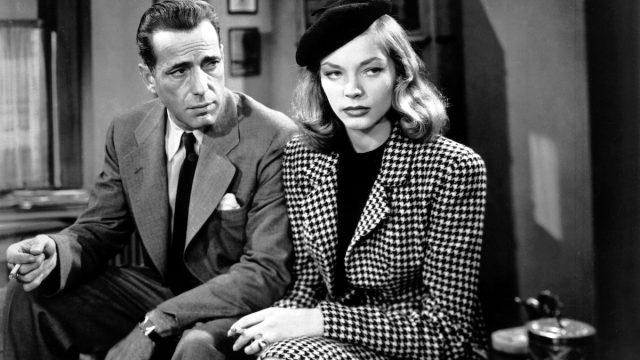 "Humphrey Bogart and Lauren Bacall in the 1946 film ""The Big Sleep"""