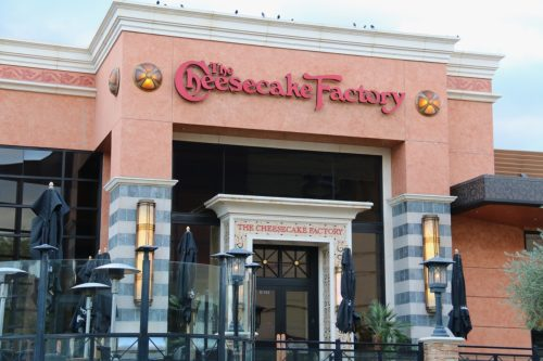 The exterior of The Cheesecake Factory