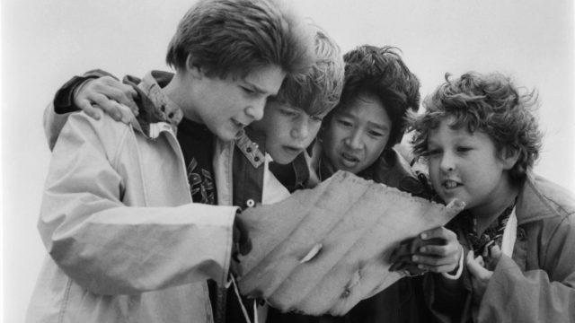 Corey Feldman, Sean Astin, Ke Huy Quan and Jeff Cohen in The Goonies