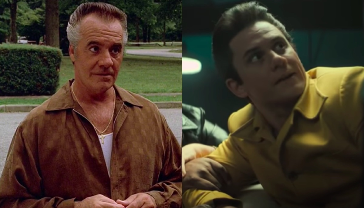 Tony Sirico in The Sopranos and Billy Magnussen in The Many Saints of Newark