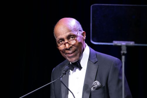 Vernon Jordan speaking at the UNCF A Mind Is Gala 75th Anniversary in March 2019