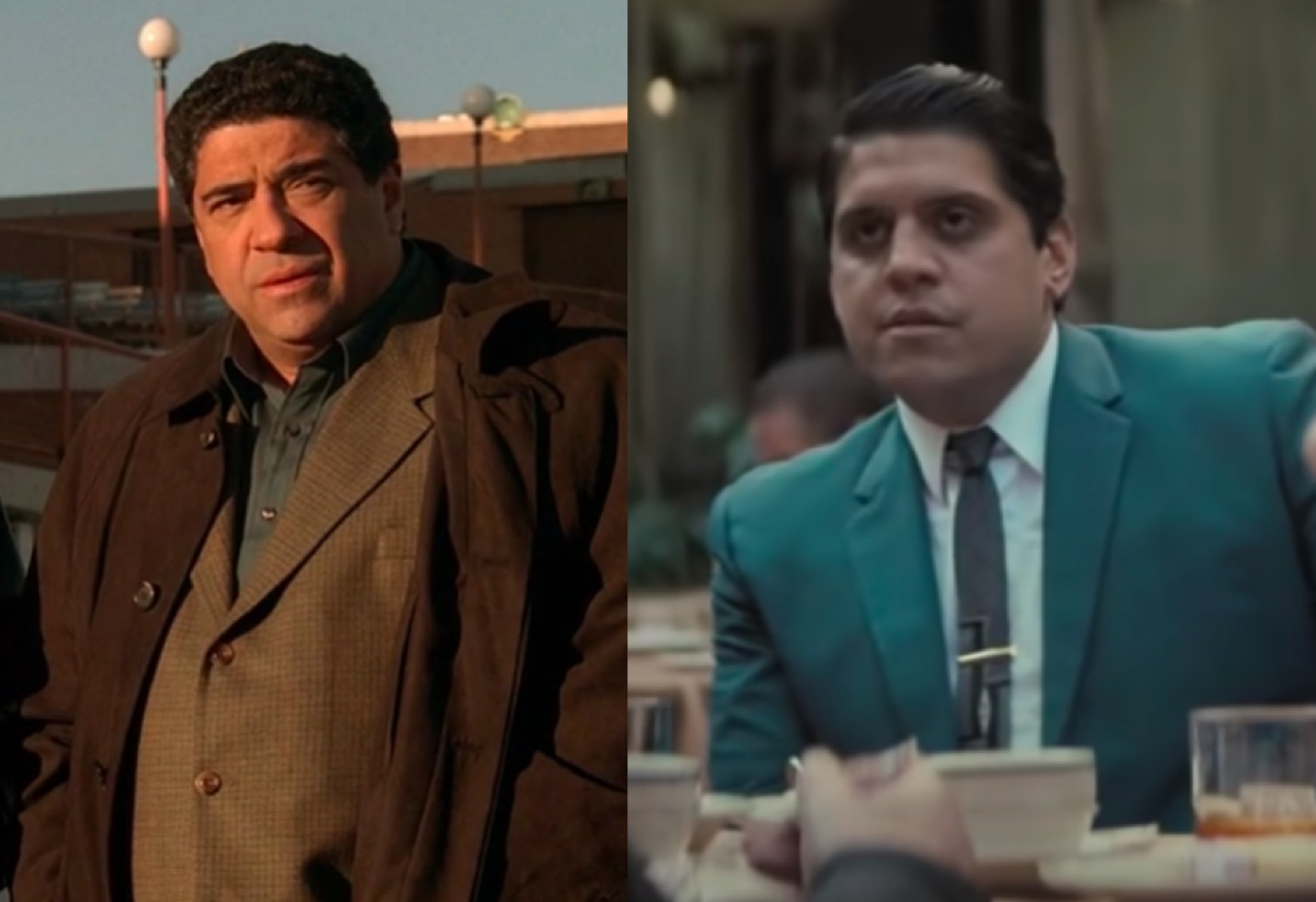 Vincent Pastore in The Sopranos and Samson Moeakiola in The Many Saints of Newark