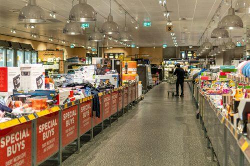 Shelves almost empty at ALDI. Coronavirus / Covid-19 in Melbourne, Australia - 17 Mar, 2020