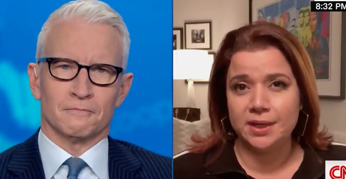 """Ana Navarro talks to Anderson Cooper about testing positive for COVID on """"The View"""""""