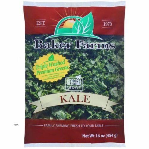 baker farms bag of recalled kale