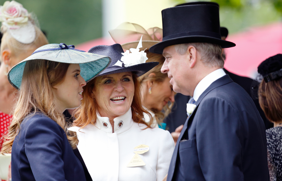Princess Beatrice, Sarah Ferguson, Duchess of York and Prince Andrew, Duke of York attend day 4 of Royal Ascot at Ascot Racecourse on June 17, 2016 in Ascot, England.