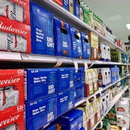 Bud Light on shelves
