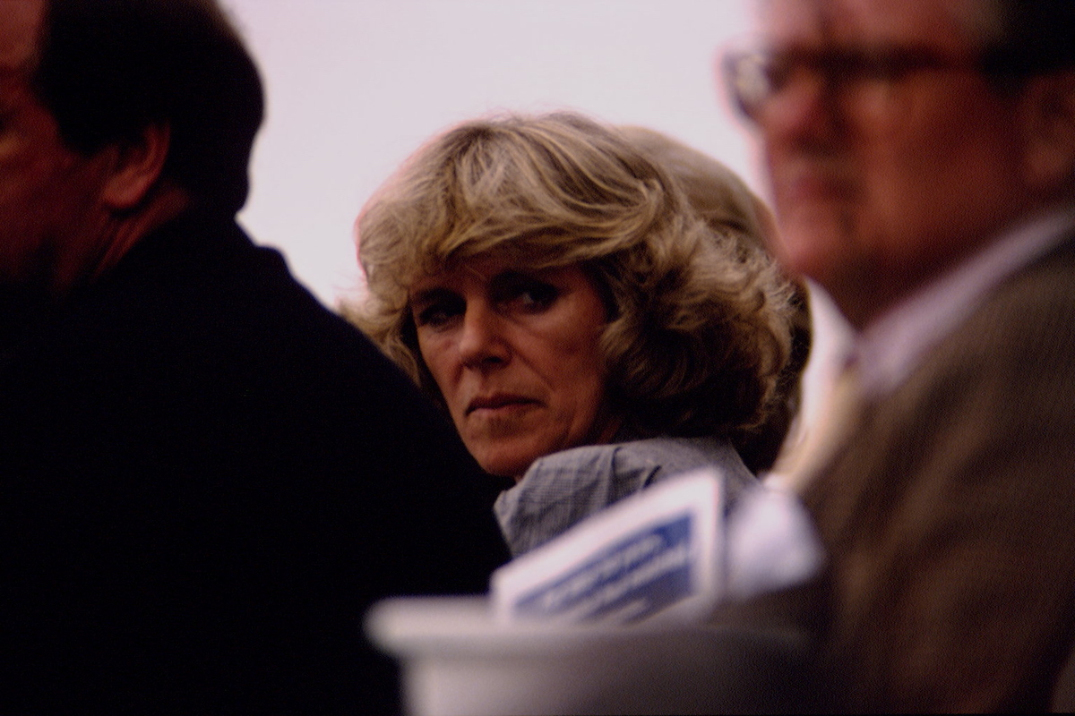 Camilla Parker Bowles attends the Queen's Cup polo match at Windsor, 7th June 1992
