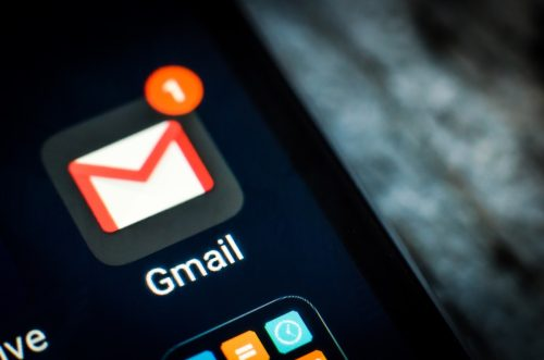 Kharkiv, Ukraine - 23 April, 2018: Gmail application icon on a smartphone screen