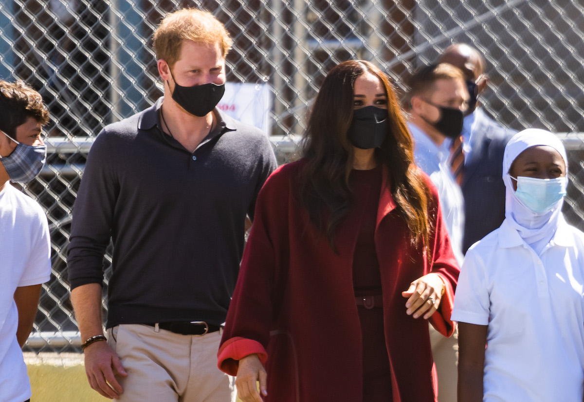 Prince Harry, Duke of Sussex and Meghan, Duchess of Sussex are seen in Harlem on September 24, 2021 in New York City.