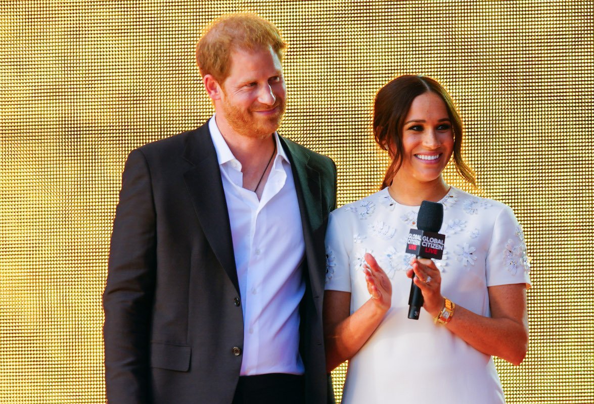 Prince Harry and Meghan Markle at Global Citizen Festival on September 25, 2021 in New York City.