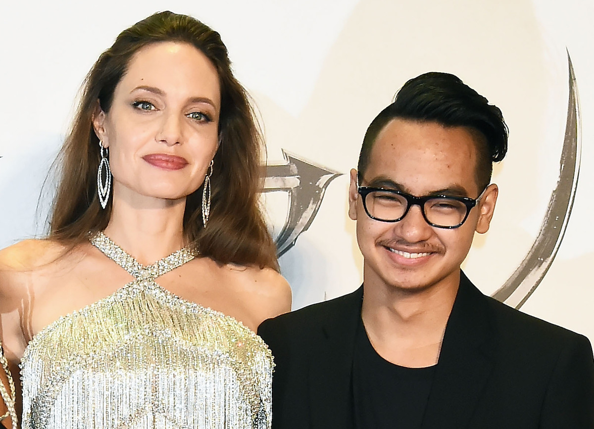 Angelina Jolie and Maddox Jolie-Pitt attend the Japan premiere of 'Maleficent: Mistress of Evil' at Roppongi Hills arena on October 3, 2019 in Tokyo, Japan.