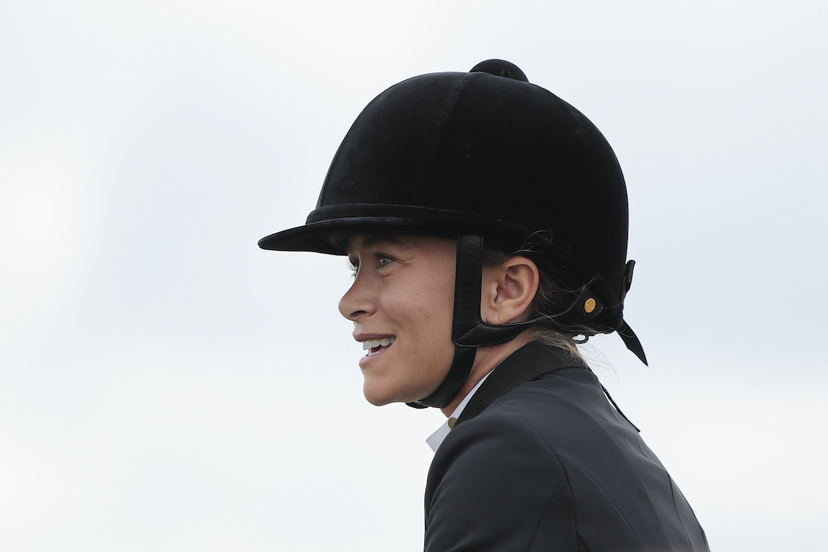 Mary Kate Olsen competes in the Longines Global Champions Tour de Chantilly, at the Hippodrome de Chantilly on July 13, 2019 in Chantilly, France.