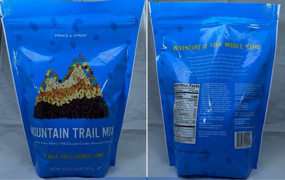 Prince & Spring Mountain trail mix recalled