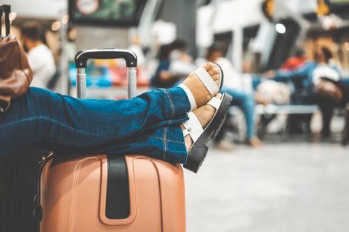 Sleeping, Flying, Luggage, Suitcase, Journey