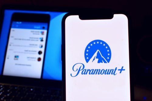 Paramount + app on an iPhone