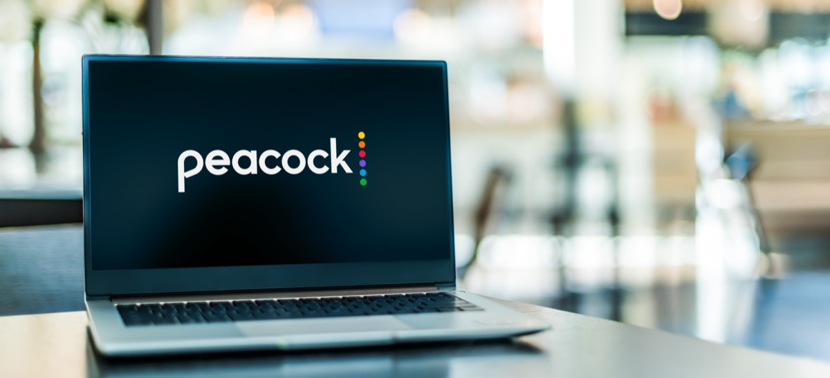 Peacock streaming service on a computer