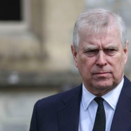 Prince Andrew, Duke of York, attends the Sunday Service at the Royal Chapel of All Saints, Windsor, following the announcement on Friday April 9th of the death of Prince Philip, Duke of Edinburgh, at the age of 99, on April 11, 2021 in Windsor, England.