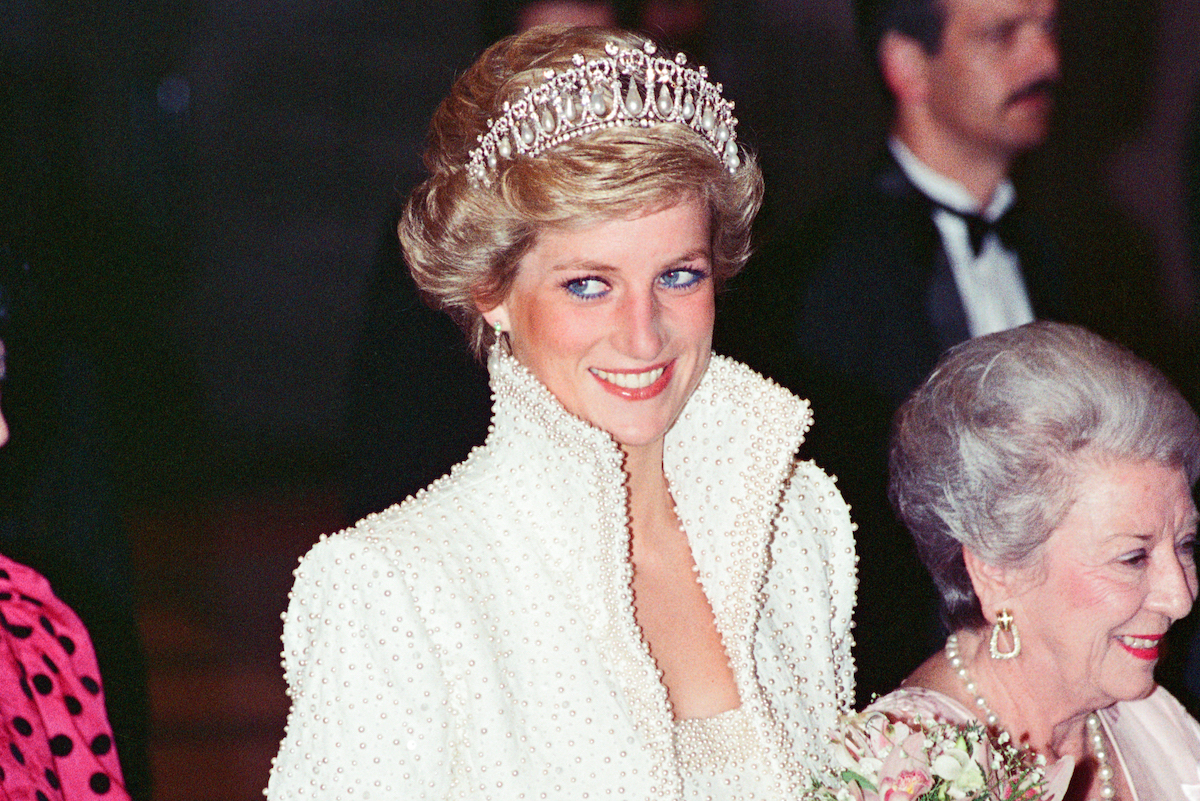 The Princess of Wales, Princess Diana visit To Hong Kong as part of their Far East tour, Princess Diana wears a diamond coronet and pearls a studded gown and short jacket, Diana is attending the opening of the new Hong Kong Cultural Centre, Picture taken 8th November 1989.