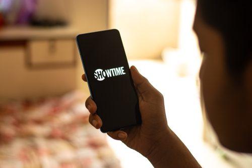 Showtime logo on a phone screenn