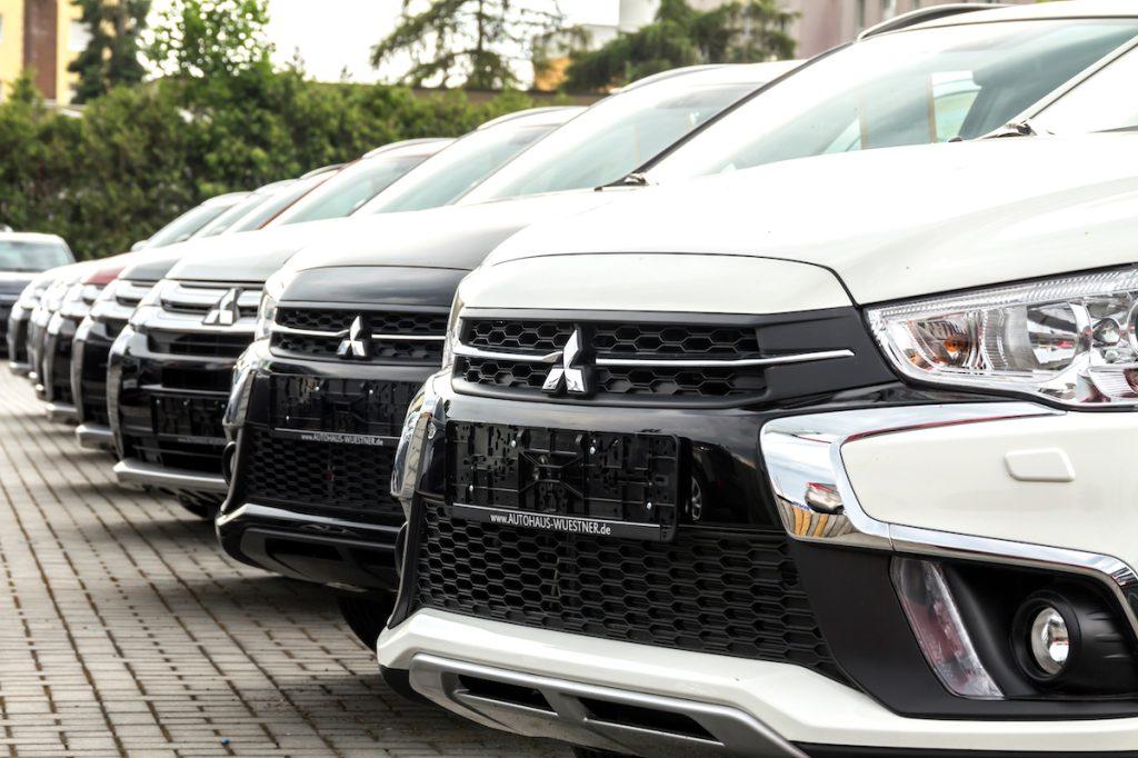 Mitsubishi vehicles at dealership