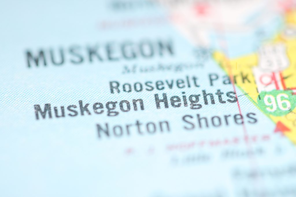 Muskegon Heights, Michigan on map
